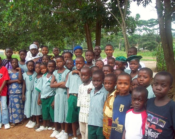 group of children and adults